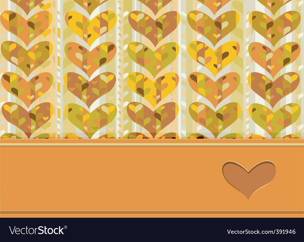 Card hearts vector image
