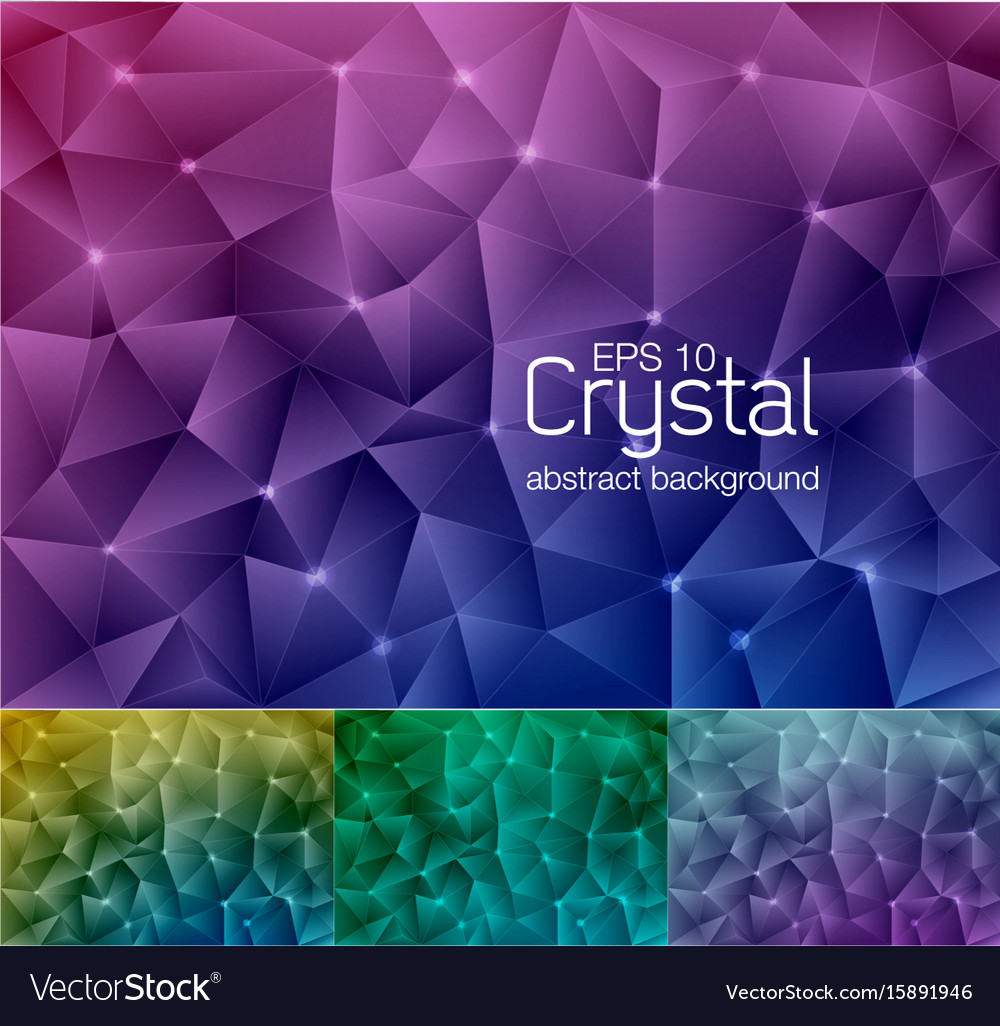 Crystal abstract background 6 vector image