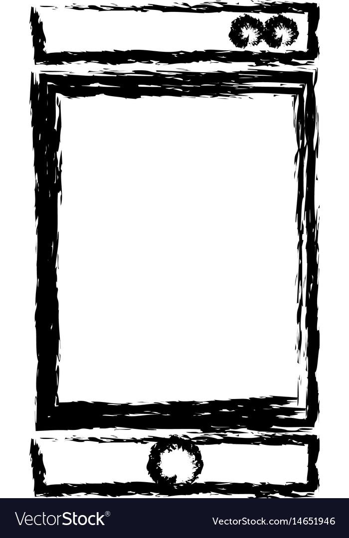 Smartphone technology communication device sketch vector image