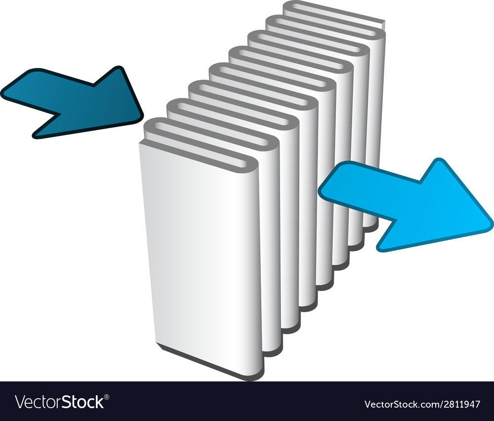 Air filter effect icon vector image
