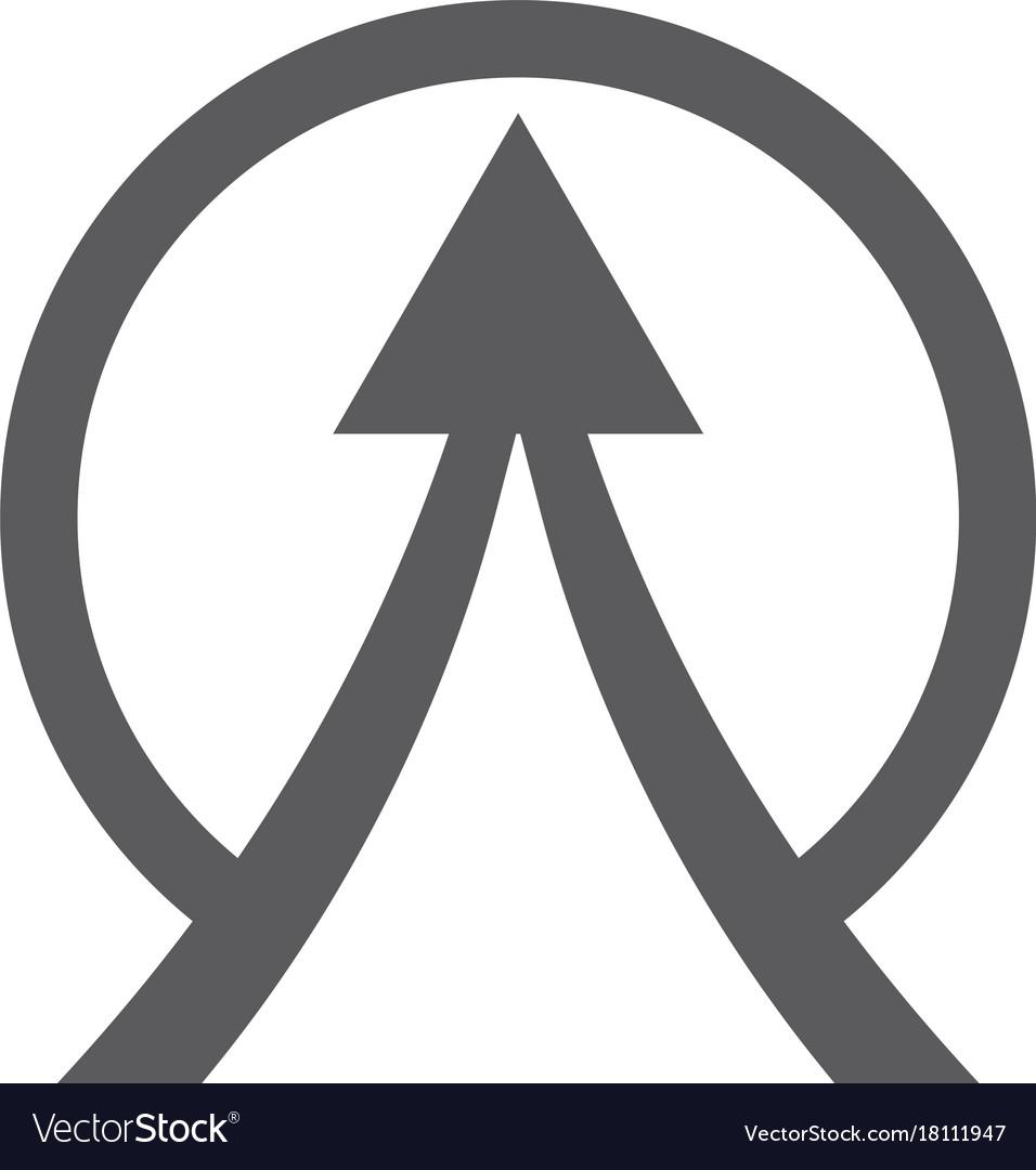 Circle arrow up logo vector image