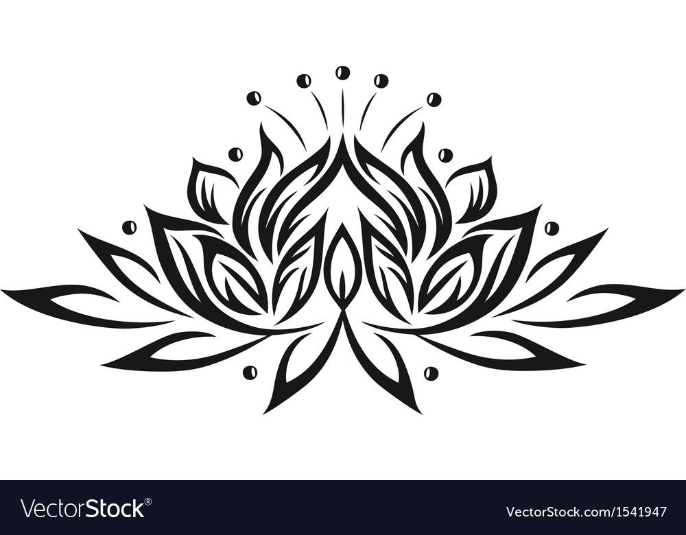 Lotus Flower Design Element Royalty Free Vector Image