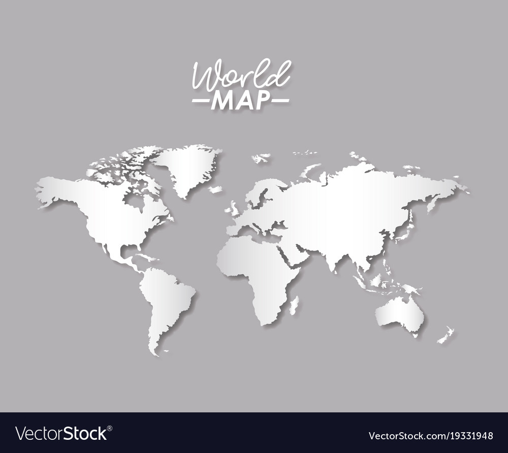 World map in grayscale color silhouette royalty free vector world map in grayscale color silhouette vector image gumiabroncs