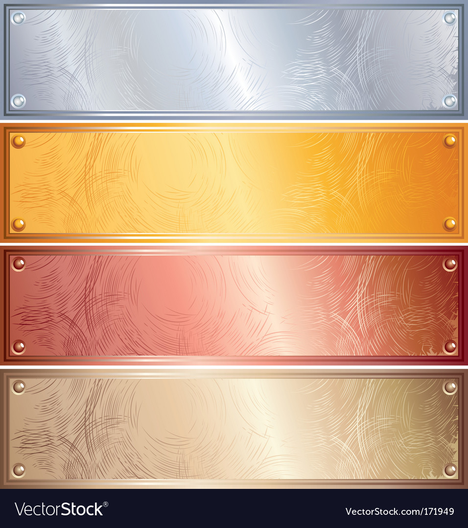 Metallic banners vector image