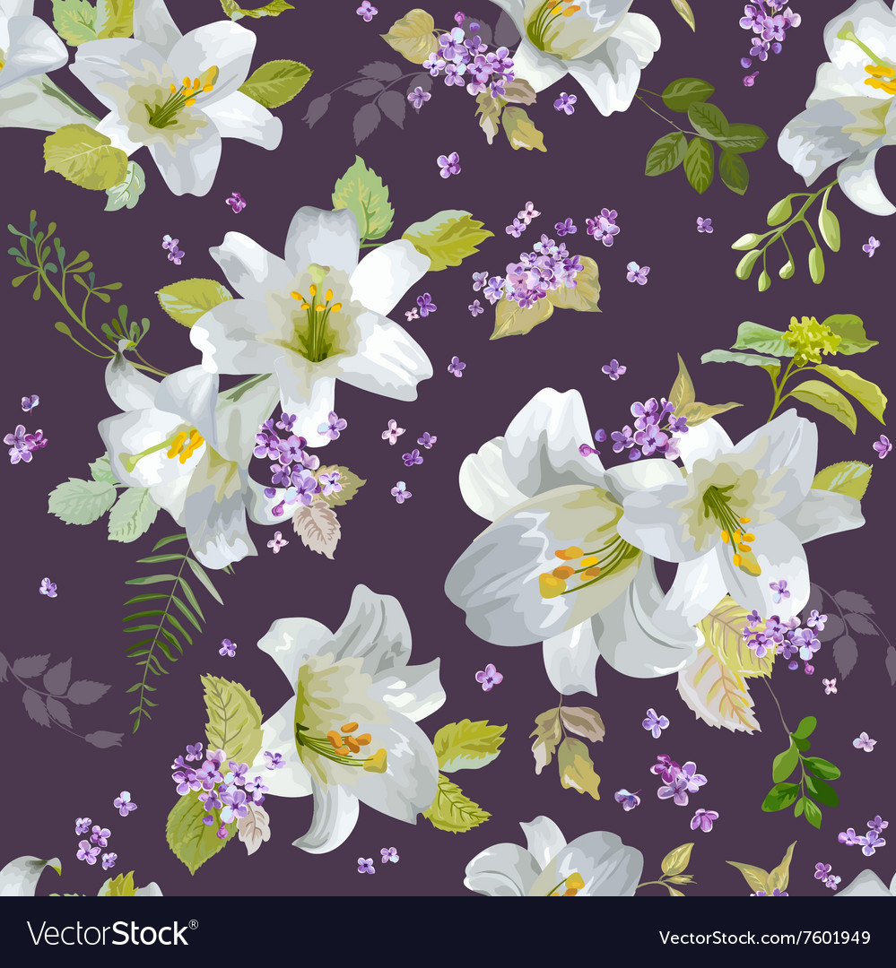 Spring lily flowers background royalty free vector image spring lily flowers background vector image izmirmasajfo Gallery