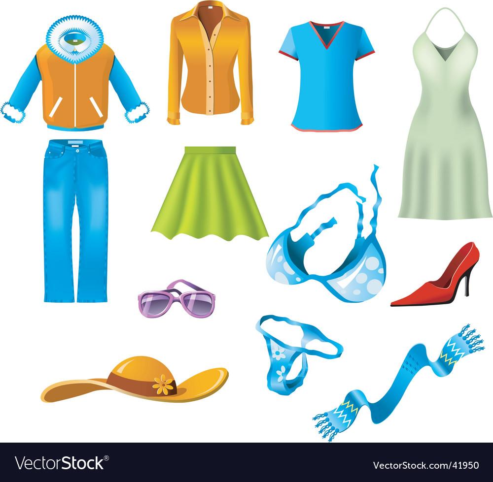 Woman clothes vector image