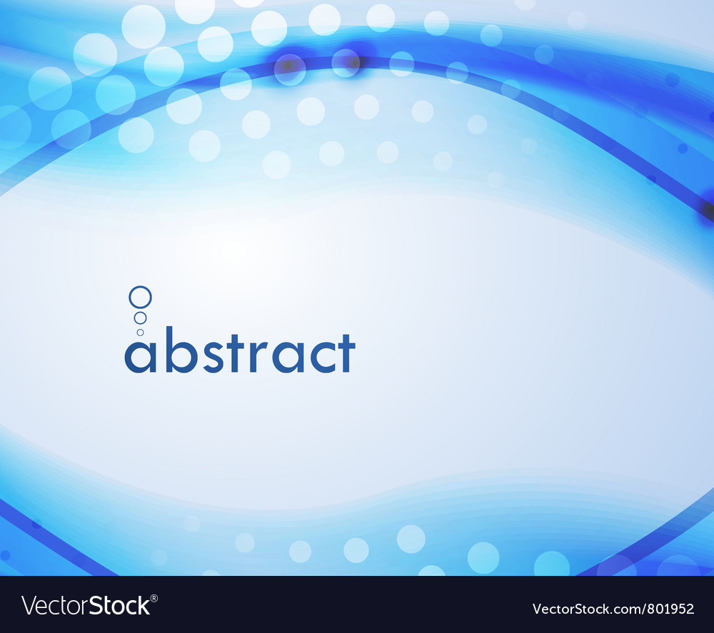 Abstract blur wave background vector image