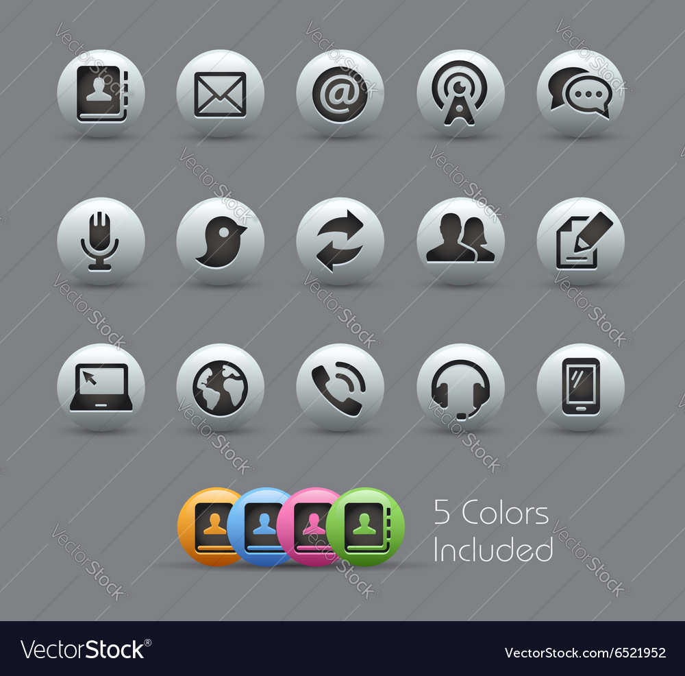 Communications Pearly Series vector image