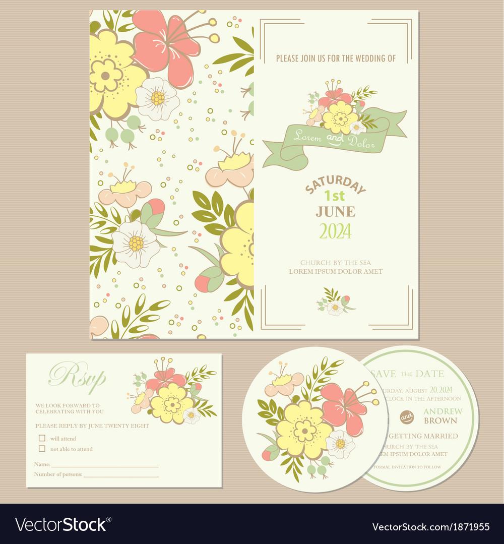 Spring wedding invitation card royalty free vector image spring wedding invitation card vector image stopboris Image collections
