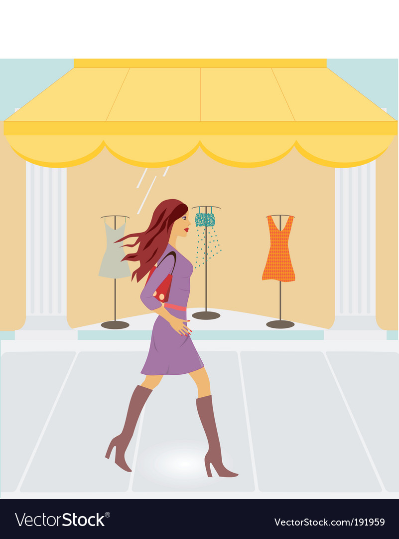 City shopping vector image