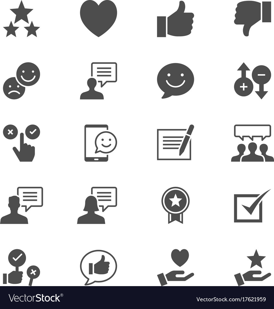Feedback and review flat icons vector image
