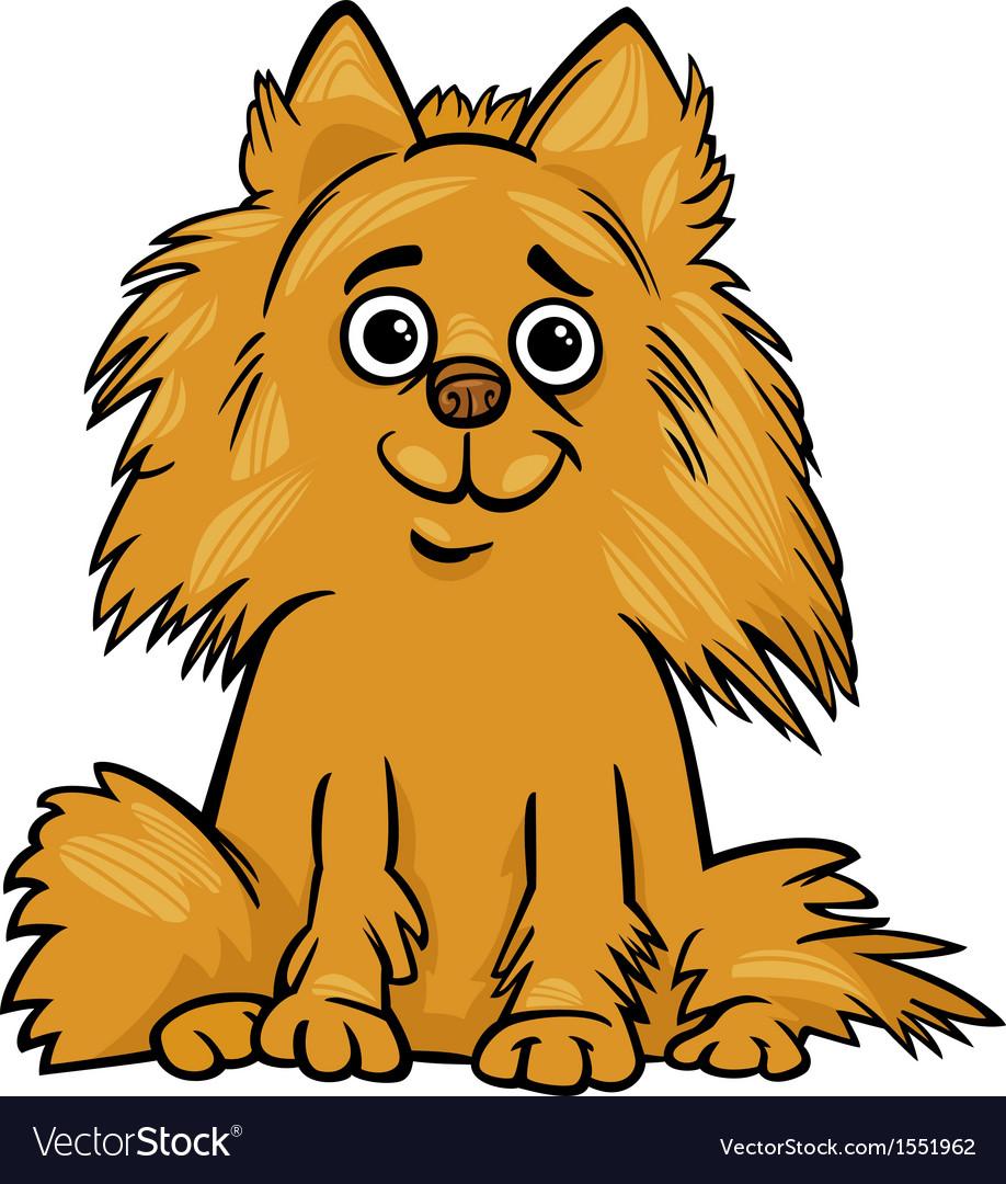 Pomeranian dog cartoon vector image