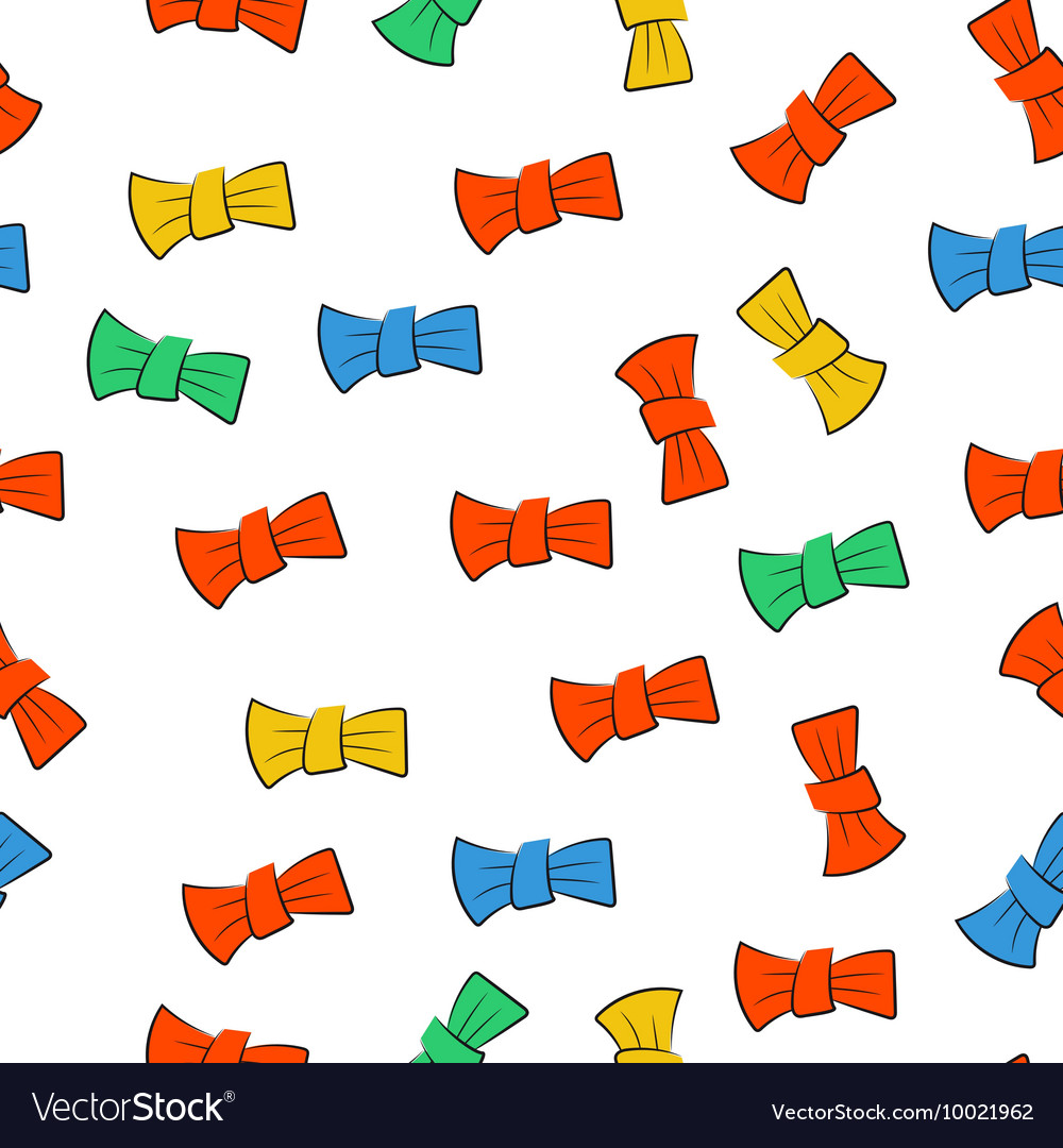 Seamless pattern with bow tie vector image