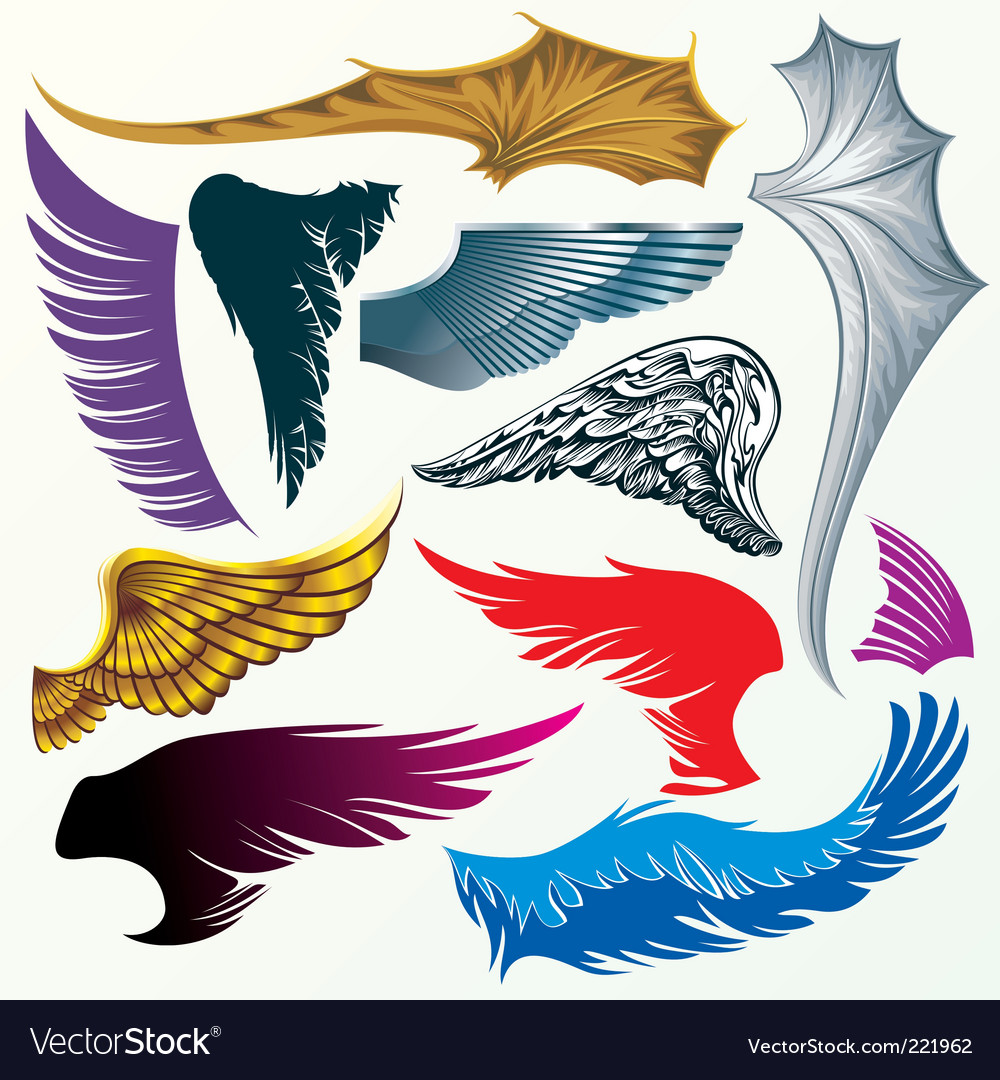 Description Various version wings drawing for design Expanded License Yes