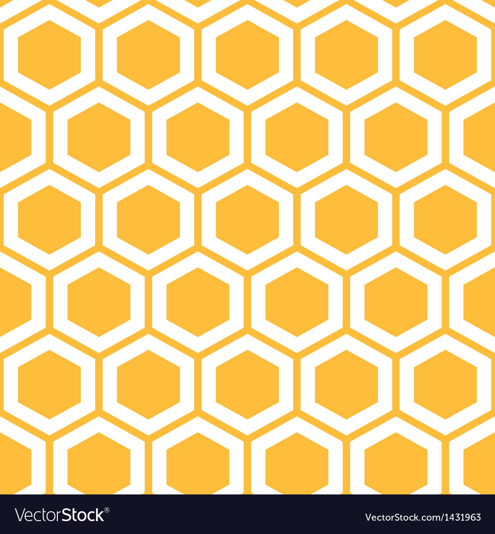 Pattern with honeycombs vector image