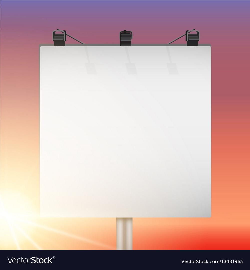 Closeup empty mockup billboard vector image