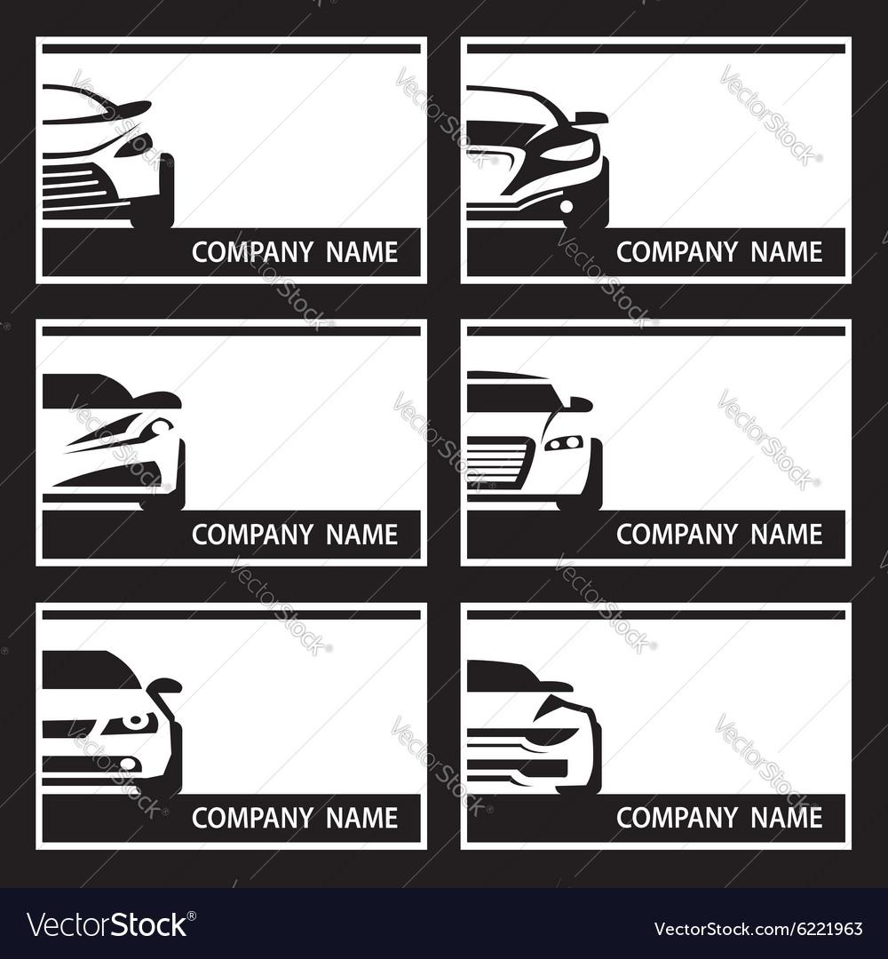 Set of car labels vector image