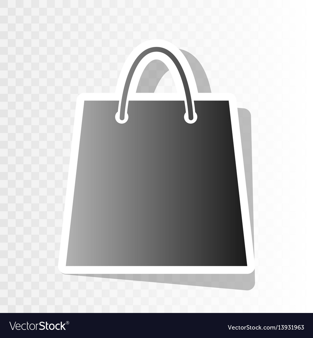 Shopping bag new year vector image