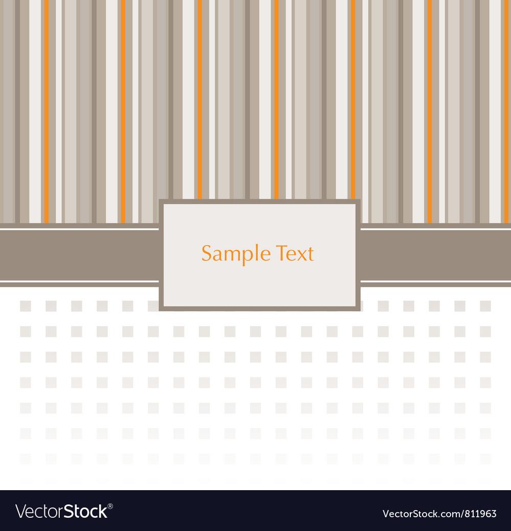 Stripey Invitation Pattern vector image