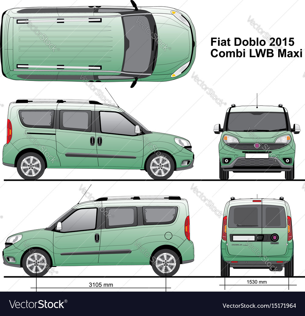 Fiat doblo combi maxi lwb 2015 royalty free vector image fiat doblo combi maxi lwb 2015 vector image malvernweather Choice Image
