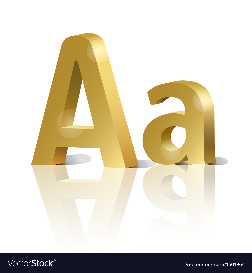 Golden letter A vector image
