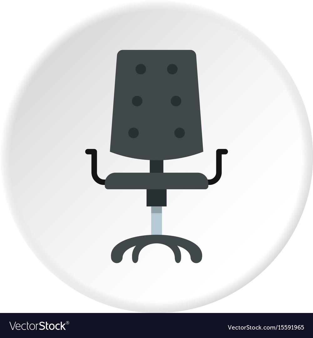 office chair icon. Black Office Chair Icon Circle Vector Image