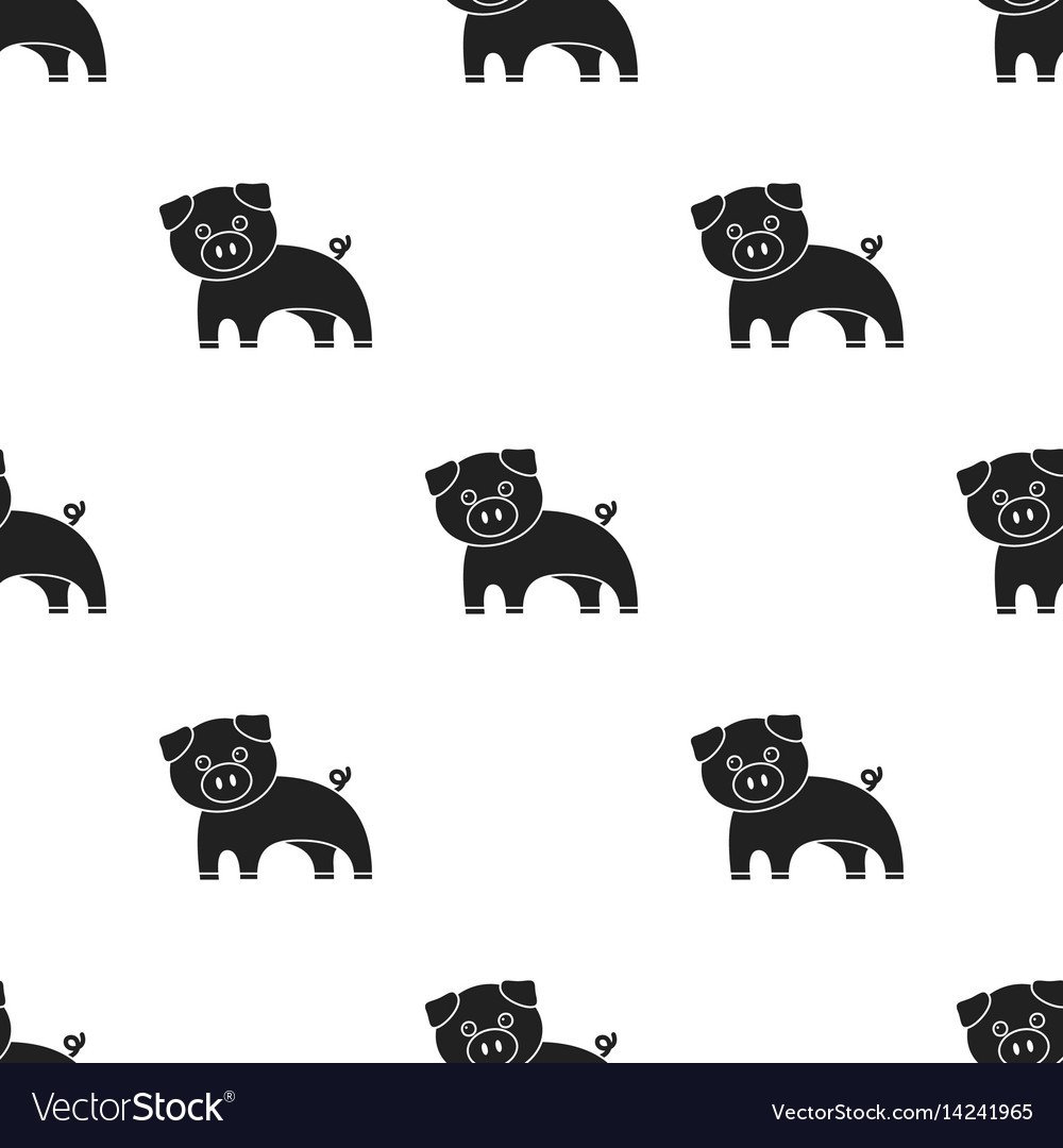 Pig black icon for web and mobile vector image