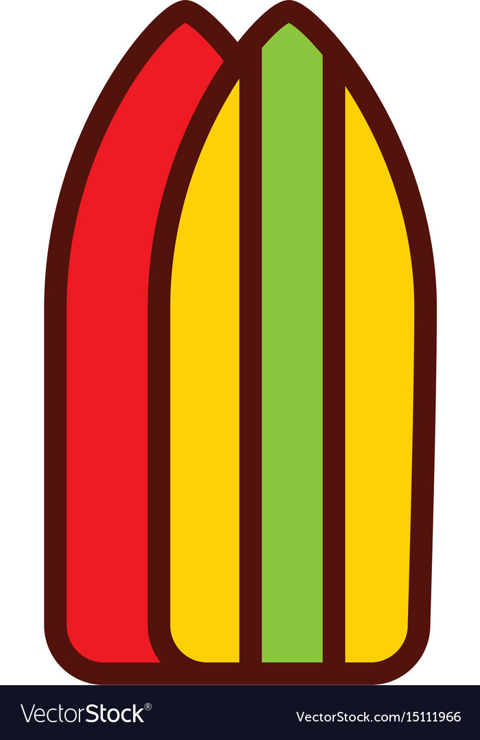 Surf table cartoon vector image