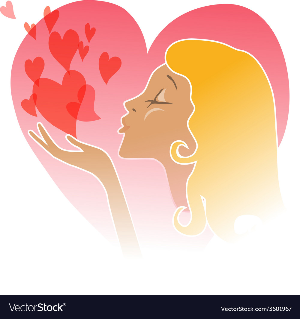 Flying Kiss - vector image