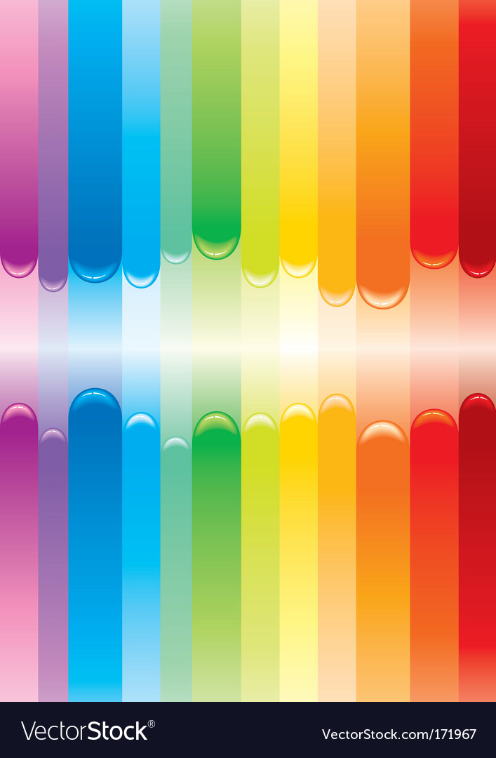 Rainbow cover vector image