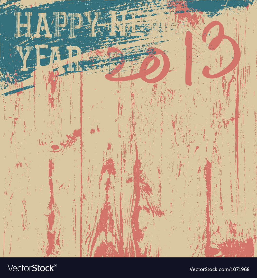 2013 new year grunge background vector image