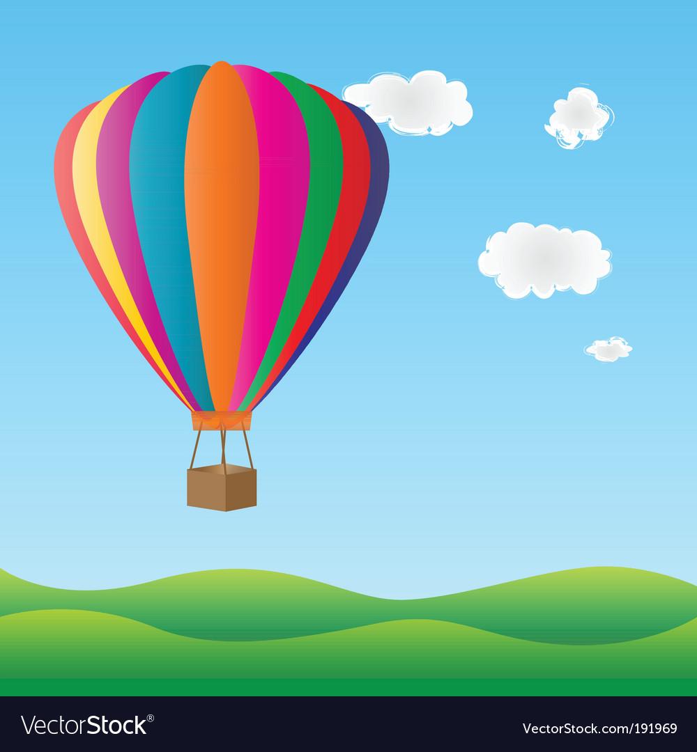 Hot air birthday balloon vector image