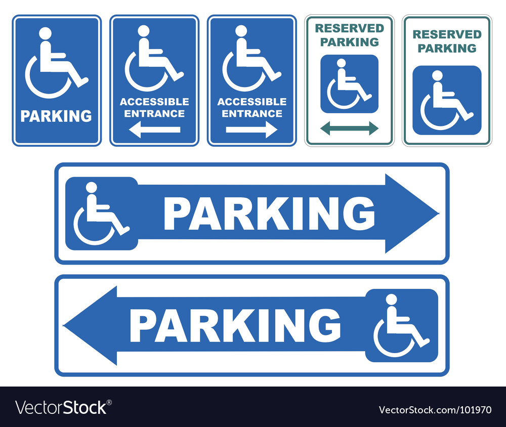 Disability sign vector image