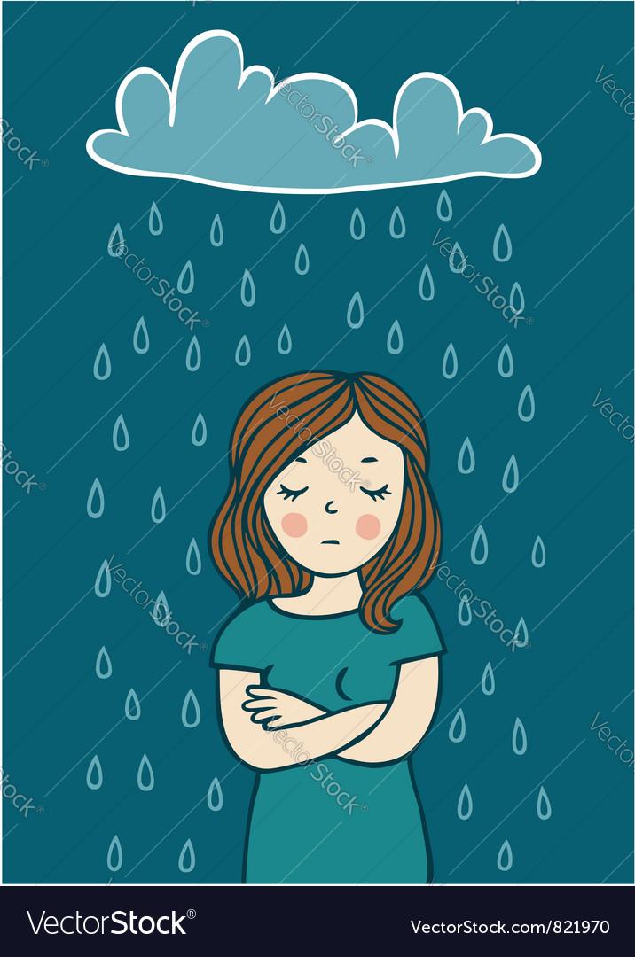 Bad mood vector image