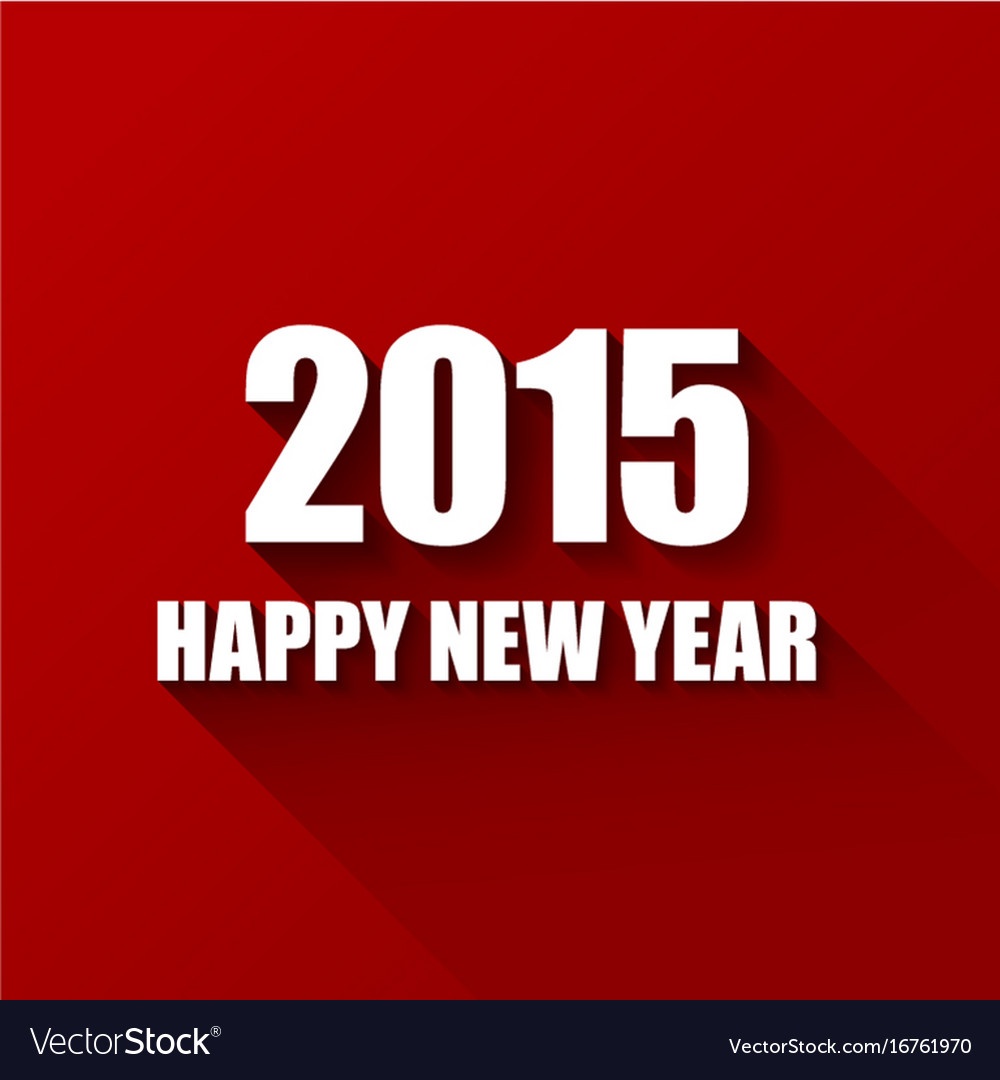 Modern red simple happy new year card 2015 vector image kristyandbryce Choice Image