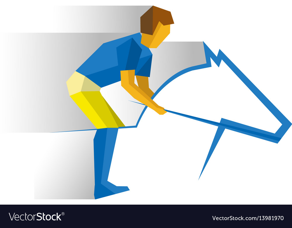 Sportsman riding a horse equestrian sport vector image