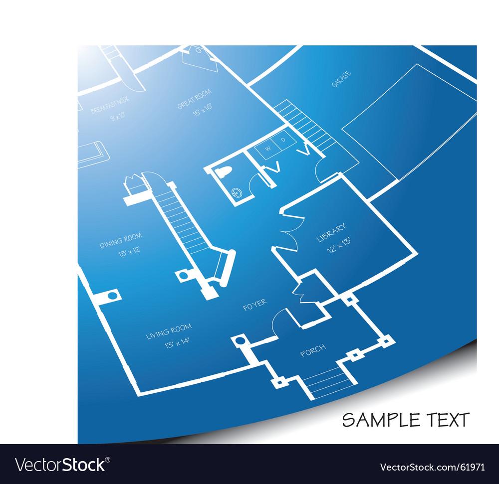 Floor plan unrolling vector image