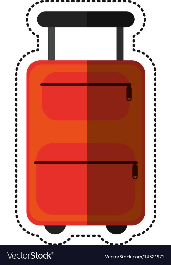 Cartoon suitcase equipment travel icon vector image