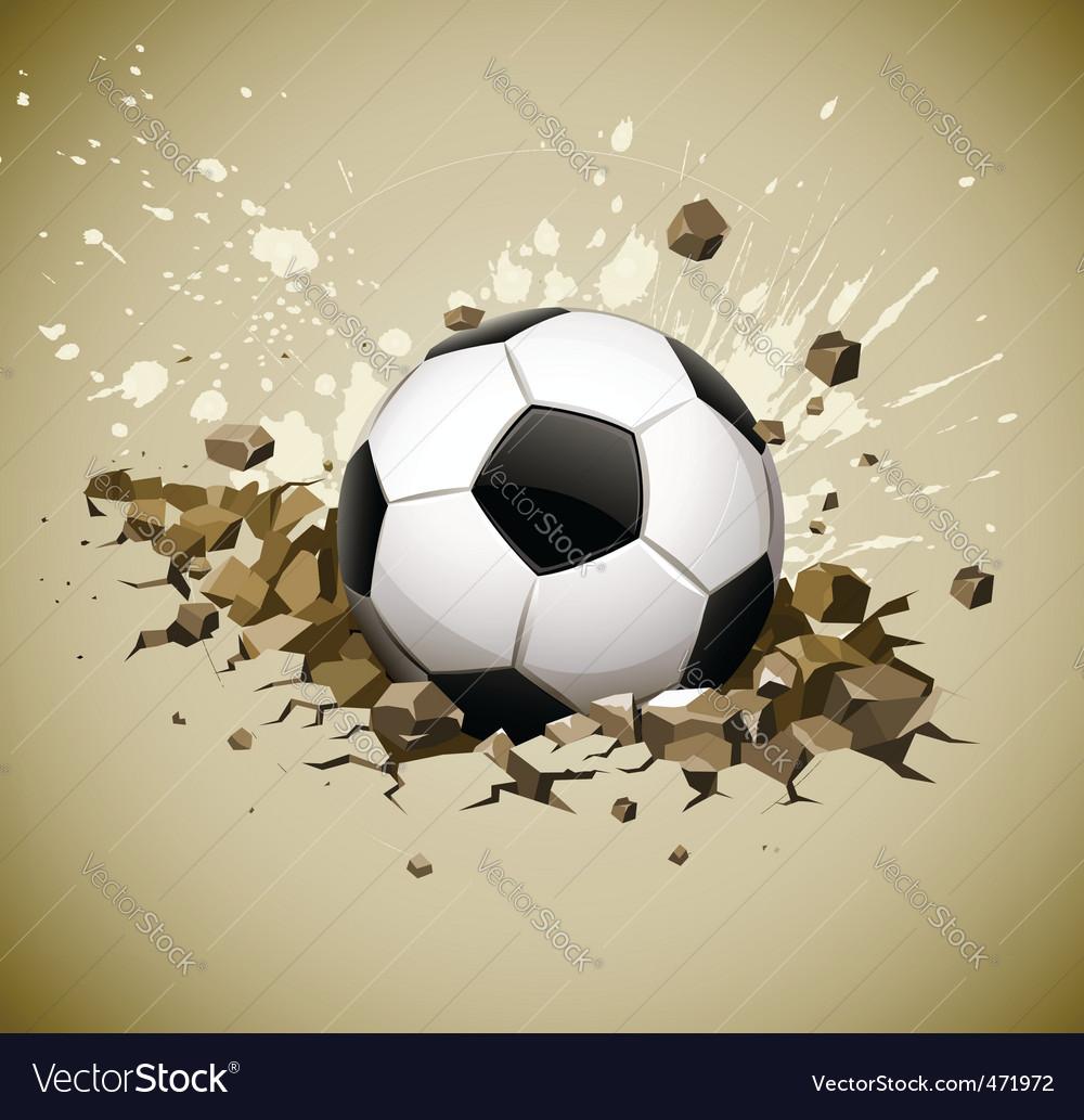 Grunge football soccer ball vector image