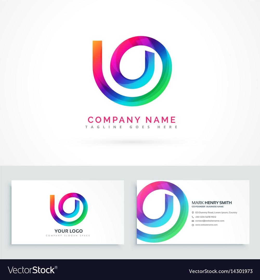 Abstract logo design concept vector image
