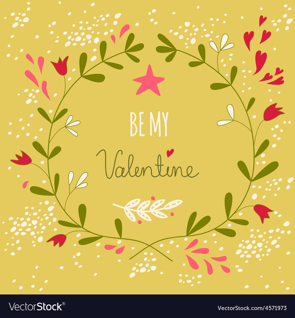 Greeting for the valentines day or a wedding vector image greeting for the valentines day or a wedding vector image kristyandbryce Image collections