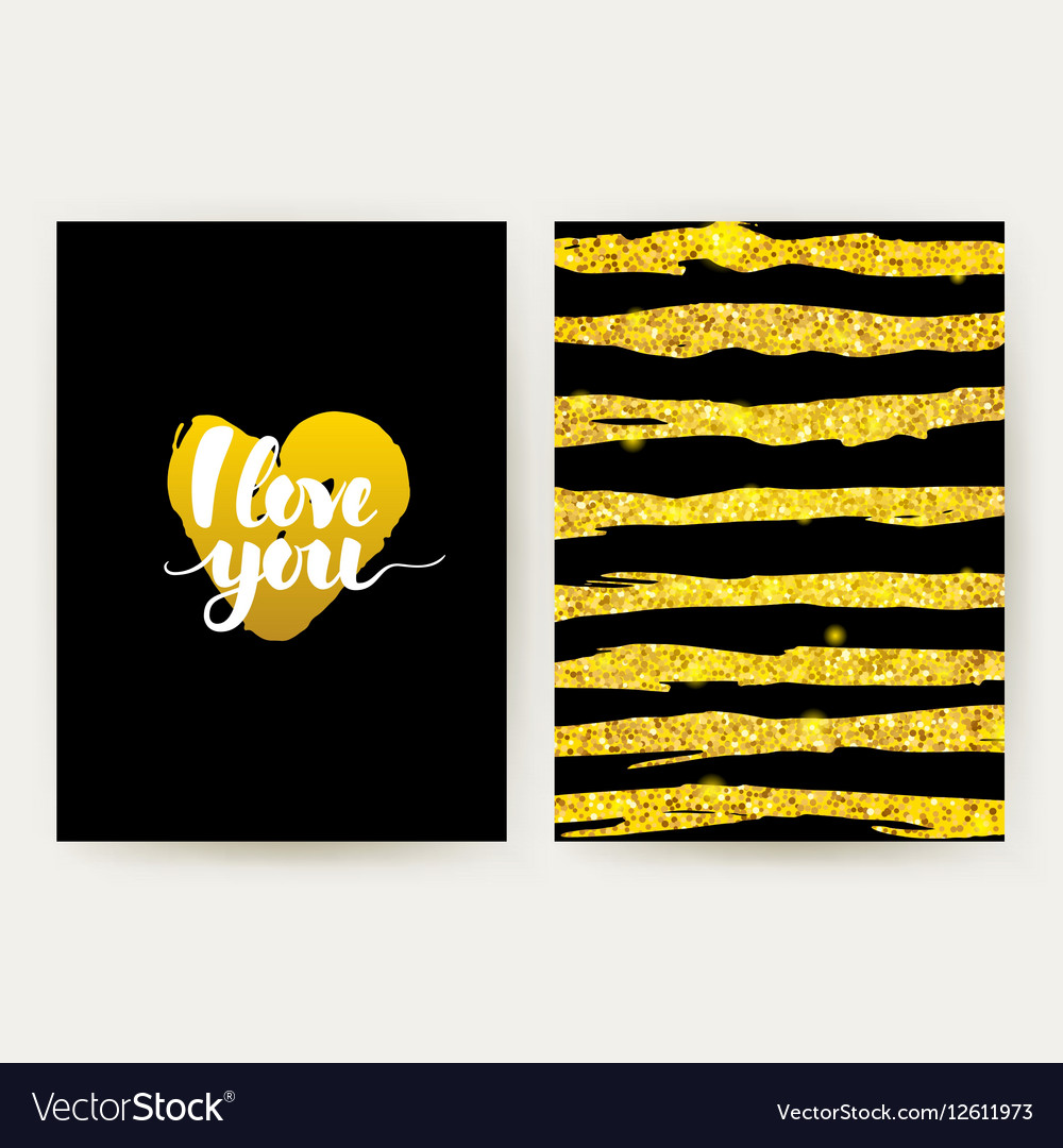 I Love You Retro Posters vector image
