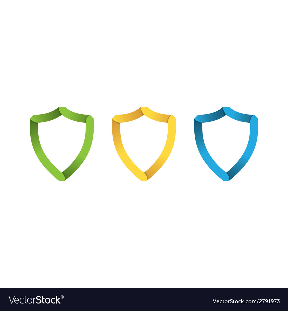 Paper shields vector image