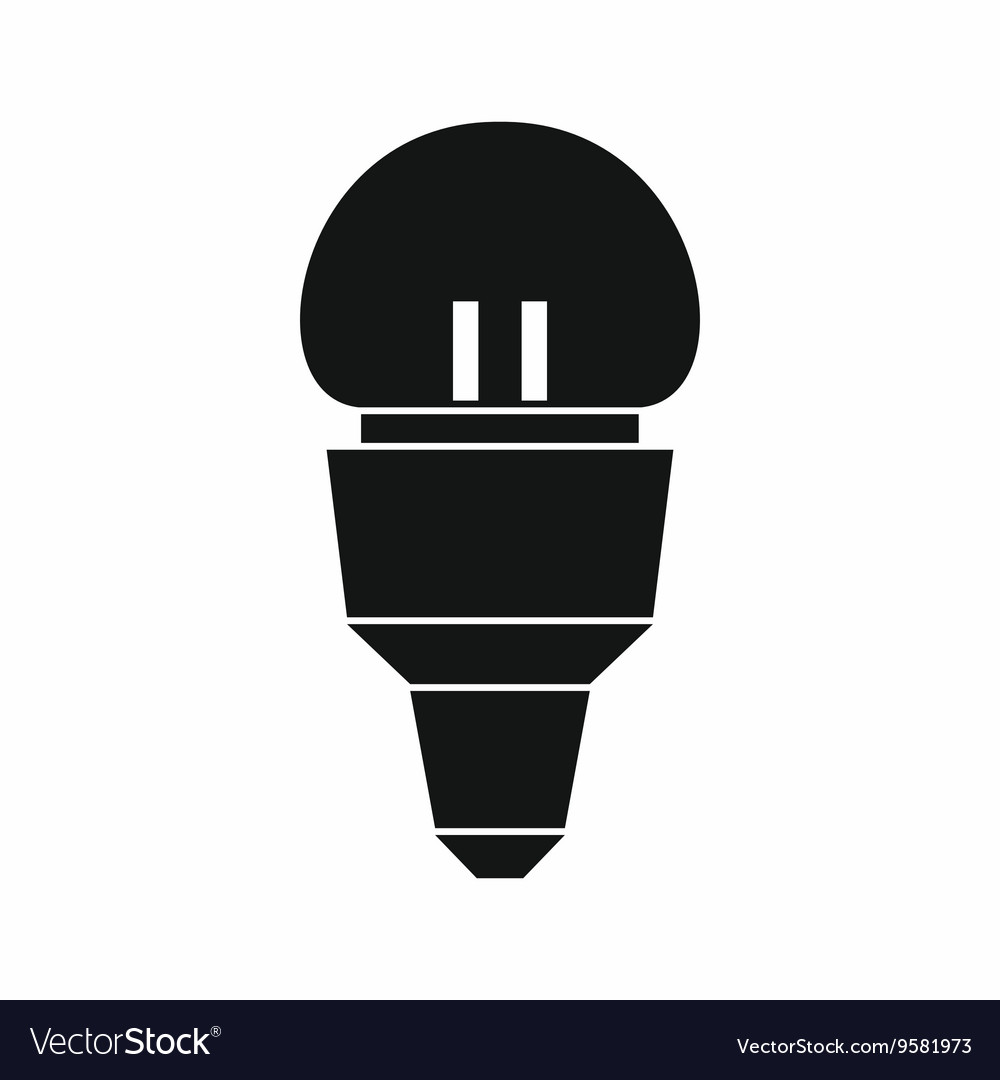 Reflector bulb icon simple style vector image