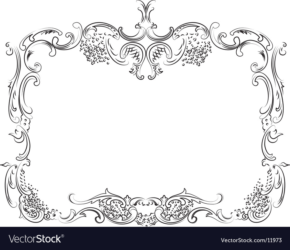 Royal ornate calligraphy frame vector image