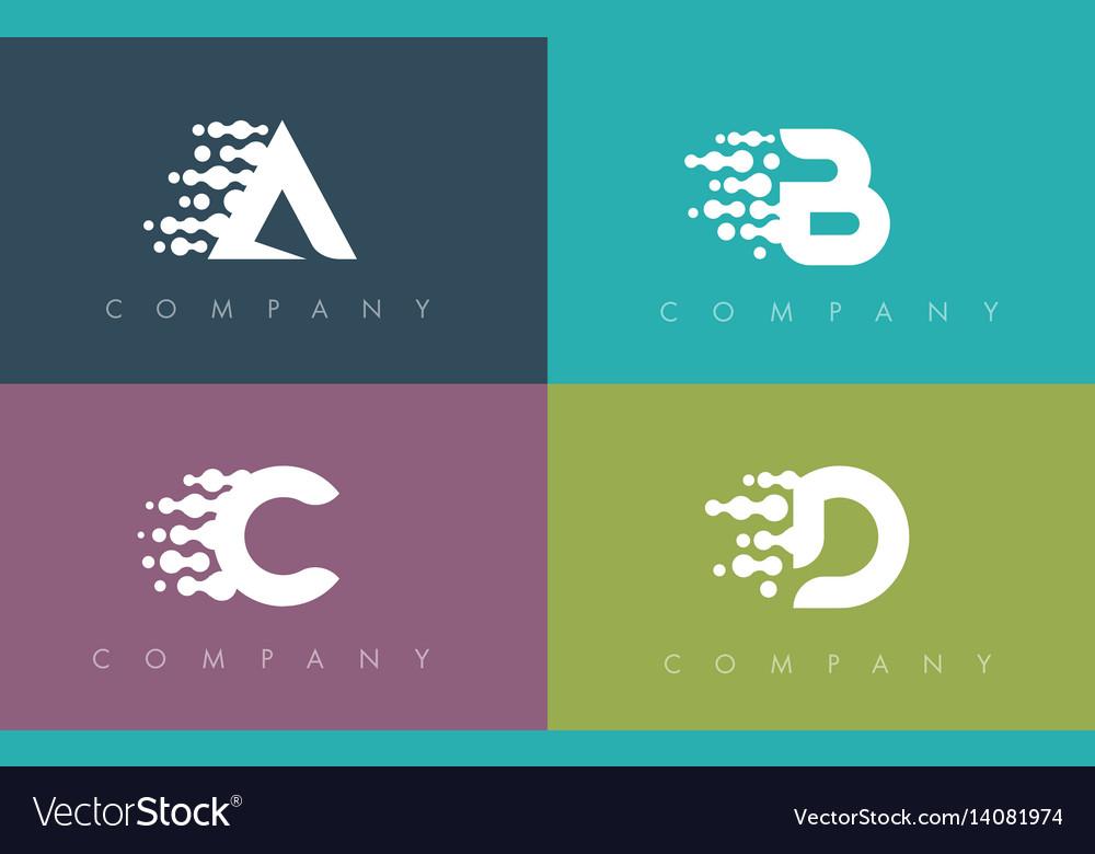 Dots letter dots letters design vector image