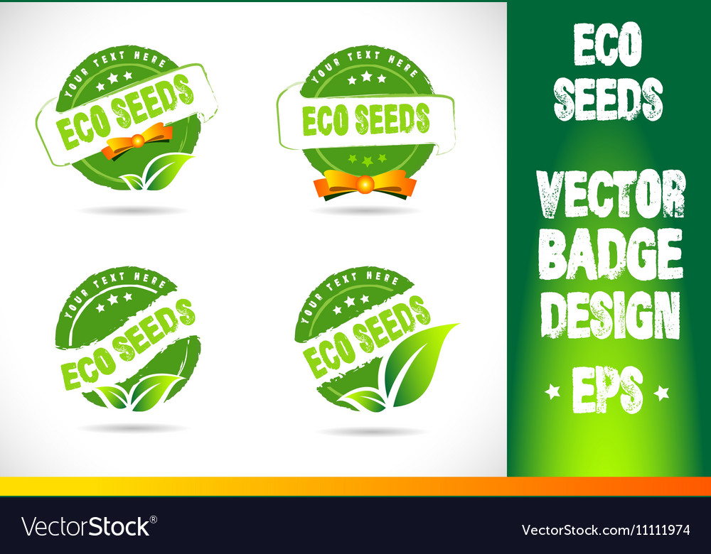 Eco seeds Badge vector image