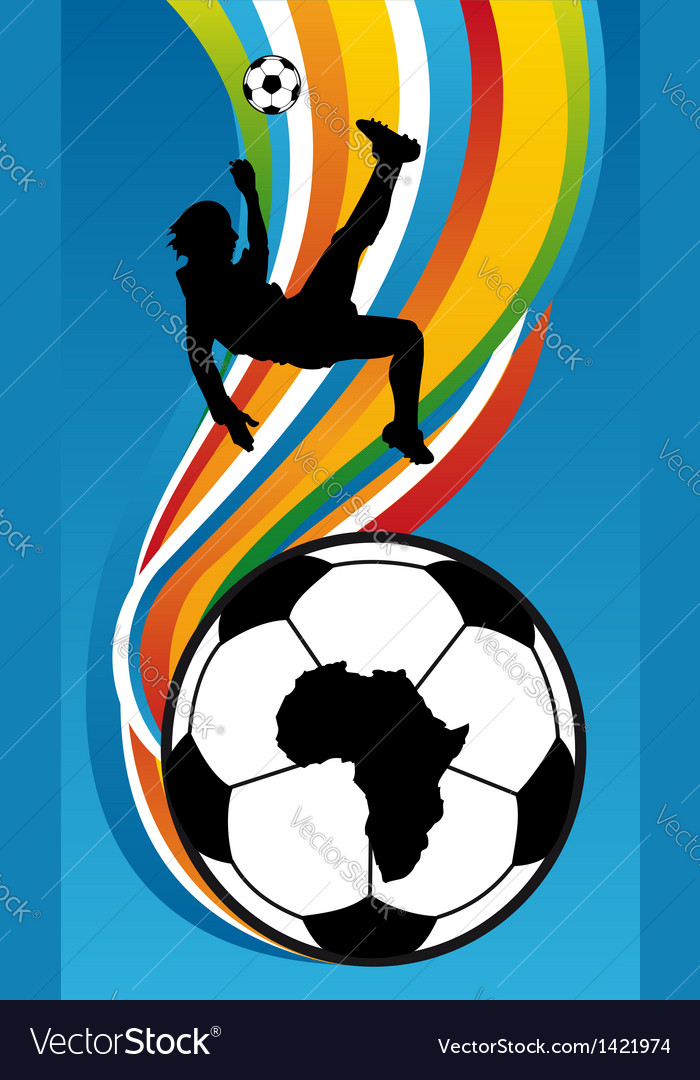 Soccer Player about to kick the football vector image