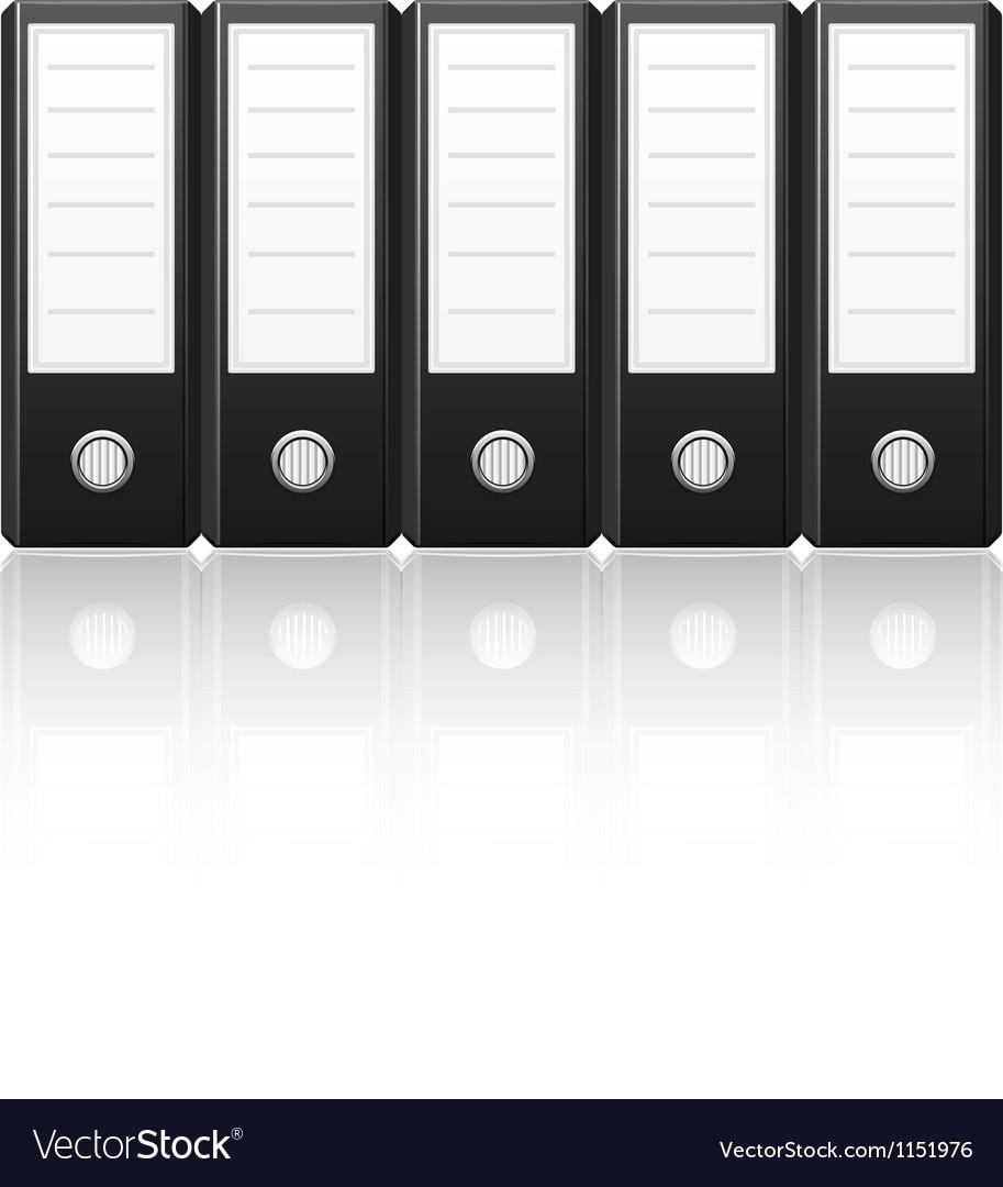 Black binders vector image