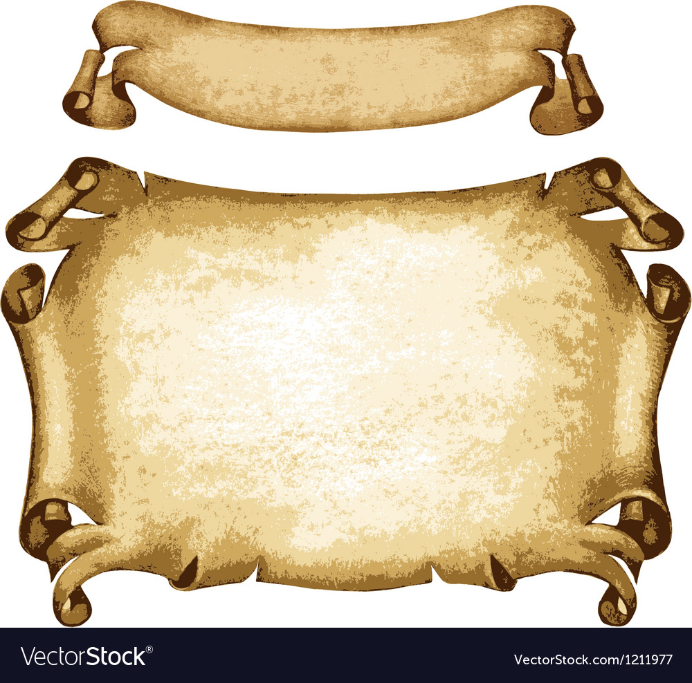 Old parchments vector image
